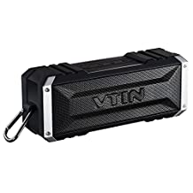 Vtin 20w Bluetooth Speakers with Dual Enhanced Bass Driver(Low Harmonic Distortion and Superior Sound),Wireless Waterproof Shockproof Bluetooth Speaker (w/ Hands-Free Calling 30 Hrs Playtime)