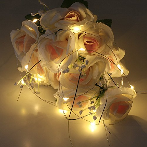 Sanniu Led Fairy Lights, 6 Packs Battery Powered Copper Wire Starry Fairy Lights, Battery Operated Lights for Bedroom, Christmas, Parties, Wedding, Centerpiece, Decoration (5m/16ft Warm White)