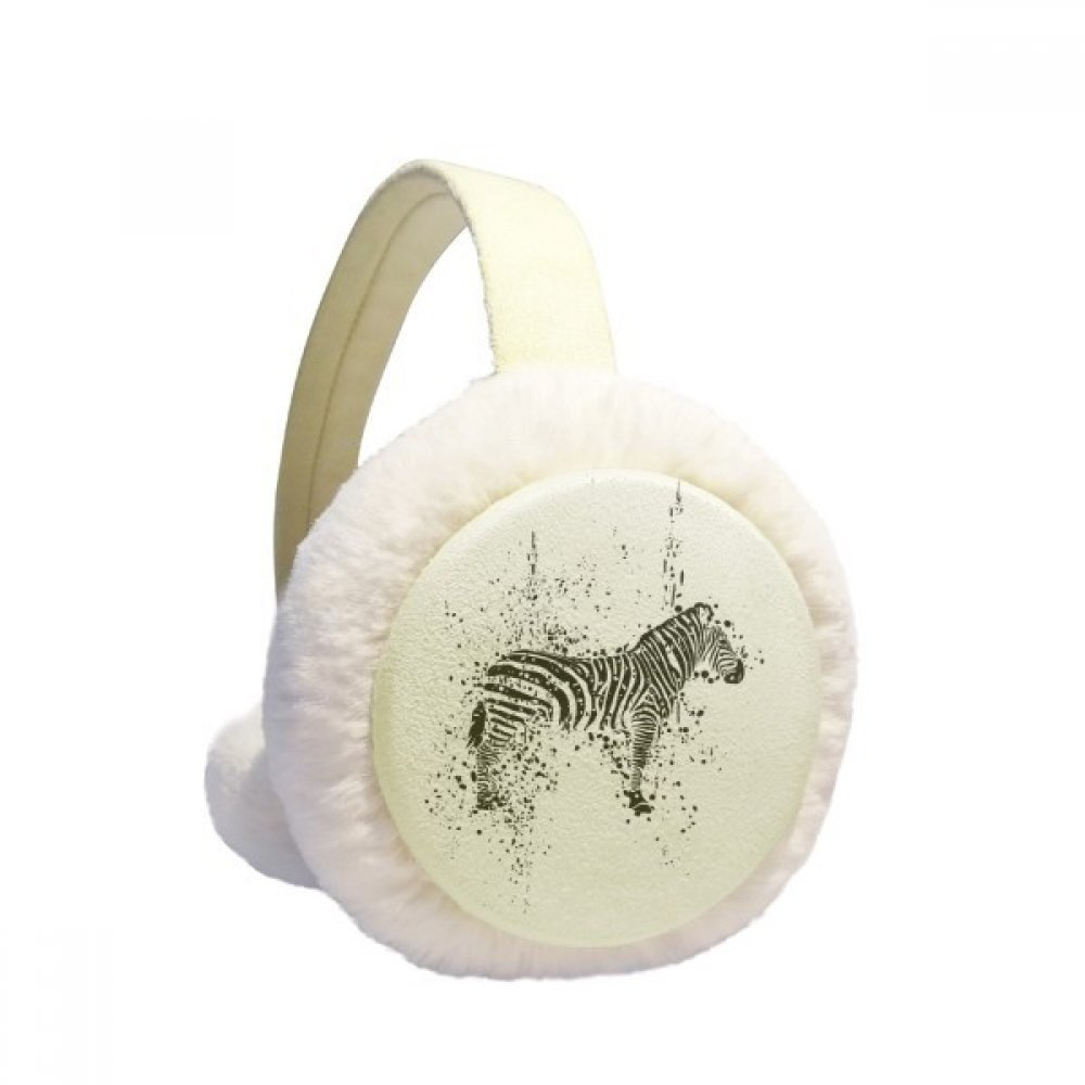 Mexican Zebra Simple Black And White Winter Earmuffs Ear Warmers Faux Fur Foldable Plush Outdoor Gift