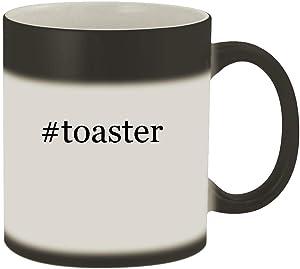 #toaster - 11oz Hashtag Magic Color Changing Mug, Matte Black