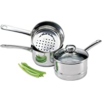 Culinary Edge 08813 - Juego de vaporizador y caldera (acero inoxidable)