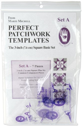 Perfect Patchwork Template-Set A - 3'' Basic Square 1 pcs sku# 644493MA by Marti Michell