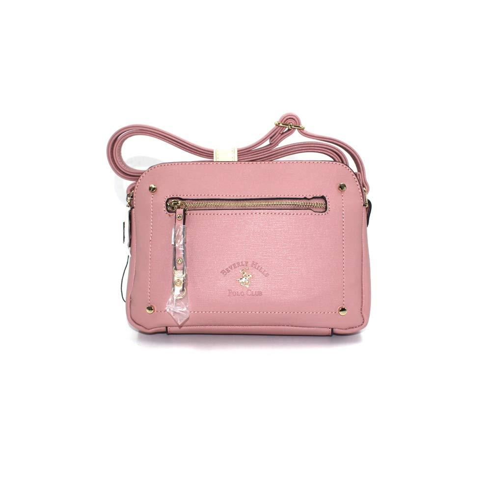 Beverly Hills Polo Club - Bolso bandolera para mujer de color rosa ...