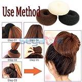 Beautiful Hair Bun Makers- Women Hair Bun Maker Styler Rings Donut Buns Doughnut Shaper Chignon Former Pack of 3 Pieces (1Large+1Middle+1Small) (Brown)