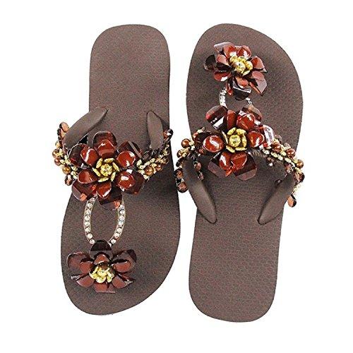 Designer Chanclas by Herrera Riemchen Flops Luxus Sandale Glamourous Flip Bella Exclusivas Simone Marrón Zehentrenner Line xrBwRBnq