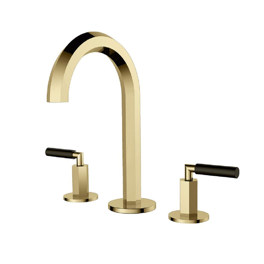 Bathroom Taps Basin Faucet Bathroom Three Hole Hot and Cold Water Faucet Bathroom Sink Tap Basin Sink Mixer Tap
