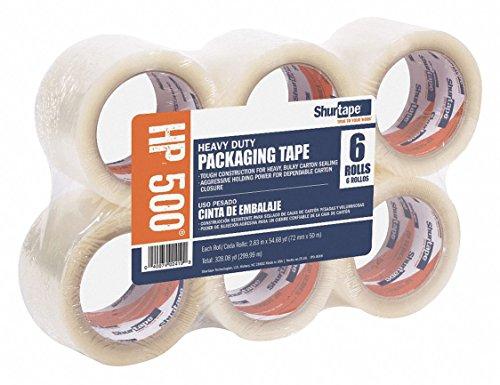 Polypropylene Carton Sealing Tape, Hot Melt Resin Adhesive, 72mm X 50m, 24 PK by SHURTAPE