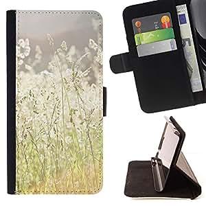 For Samsung Galaxy S3 III i9300 i747 Case , Verano campo del heno Ray Naturaleza Cálida- la tarjeta de Crédito Slots PU Funda de cuero Monedero caso cubierta de piel