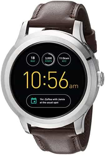 Fossil Q Founder Gen 2 Dark Brown Leather Touchscreen Smartwatch FTW2119
