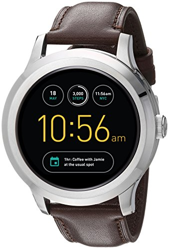 Fossil Q Founder Gen 2 Dark Brown Leather Touchscreen Smartwatch FTW2119 by Fossil (Image #5)