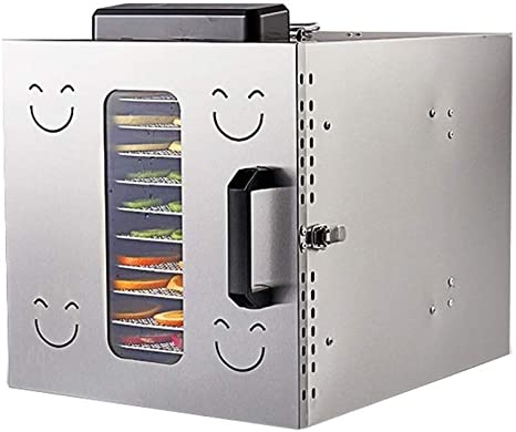 Opinión sobre L.TSA Deshidratador de Alimentos Deshidratador de Alimentos - Secadora de Alimentos Bandeja de 12 Capas de Acero Inoxidable de Gran Capacidad Uso Comercial Temporizador Ajustable y Control d