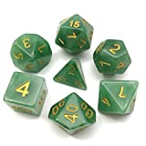 Polyhedral Dice Sets MTG Dice for Dungeons and Dragons Pathfinder DND RPG Table Gaming Dice Jade Green