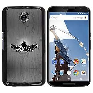Be Good Phone Accessory // Dura Cáscara cubierta Protectora Caso Carcasa Funda de Protección para Motorola NEXUS 6 / X / Moto X Pro // Funny Apple Life