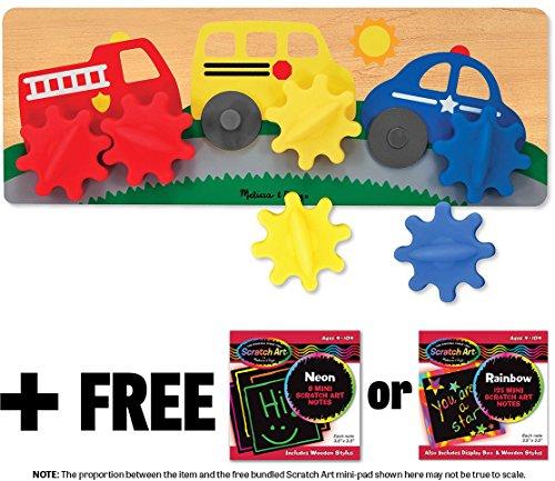 Spinning Wheels Gear Toy + FREE Melissa & Doug Scratch Art Mini-Pad Bundle [30434]