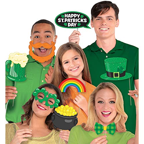 Amscan Party Supplies, St. Patrick's Day Photo Prop Kit, Party Favors, Multisizes, Multicolor, 13ct