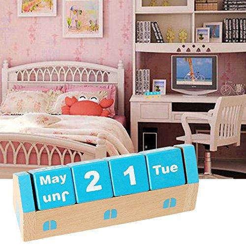 For Room School Desktop Decoration Wooden Perpetual Table Desk Calendar Schedule by PONML (Image #1)