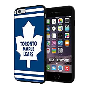 Toronto Maple Leafs 3 WADE4693. NHL iPhone 6+ 5.5 inch Case Protection Black Rubber Cover Protector