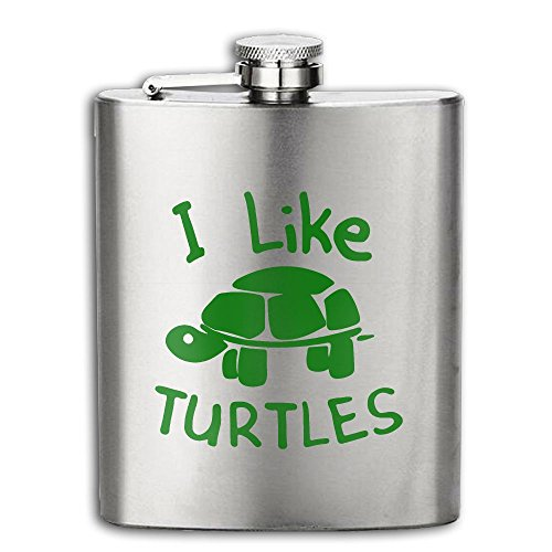 Costume Drama Youtube (I Like Turtles Flasks Stainless Steel Liquor Flagon Retro Rum Whiskey AlcoholPocket Flask Liquor Flagon Retro Rum Whiskey Flask Great Gift 7OZ Lightweight)