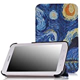 MoKo Samsung Galaxy Tab E Lite 7.0 Case - Ultra Slim Lightweight Smart-shell Stand Cover Case for Galaxy Tab E lite 7.0 SM-T113 & Tab 3 Lite T110 / T111 7.0 Inch Android Tablet, Starry Night