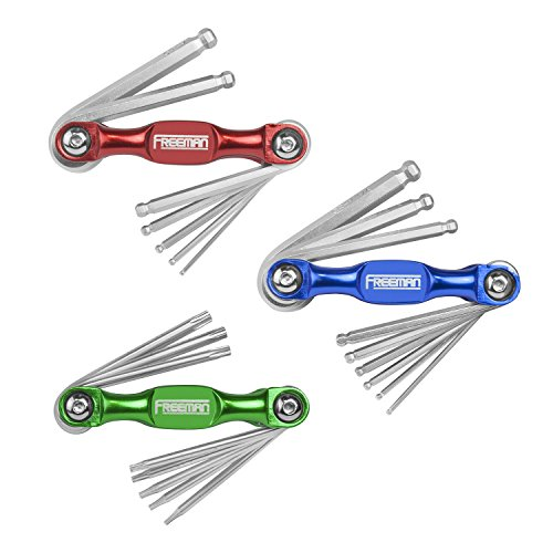 Freeman P3PHKS Folding Metric/SAE Hex & Torx Wrench Kit