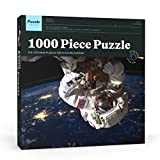 Puzzle Press | Spaceman Jigsaw Puzzle 1000 Piece Adult Puzzle - Extremely Challenging - Astronaut in Space