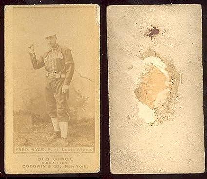 1887 Old Judge N172 Regular Baseball Card 347 Frederick Nyce Of