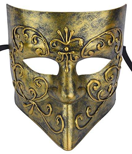 [Gentlemen Masquerade Mask Halloween Costumes Mardi Gras Mask With Floral] (Drama Mask Costume)