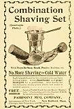 1896 Ad Pairpoint Shaving Set Brushes Soap UNUSUAL - Original Print Ad