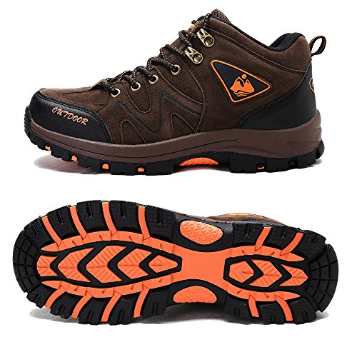 Outdoor De Antidérapant Trekking Sports Kamixin Marron Montantes JTF3l1Kc