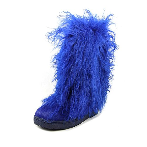 BEARPAW Boetis - Womens Furry Boots - 1294W Cobalt Blue - 5 -