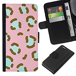 [Neutron-Star] Modelo colorido cuero de la carpeta del tirón del caso cubierta piel Holster Funda protecció Para Apple iPhone 5C [Modelo rosado del trullo Piel animal]