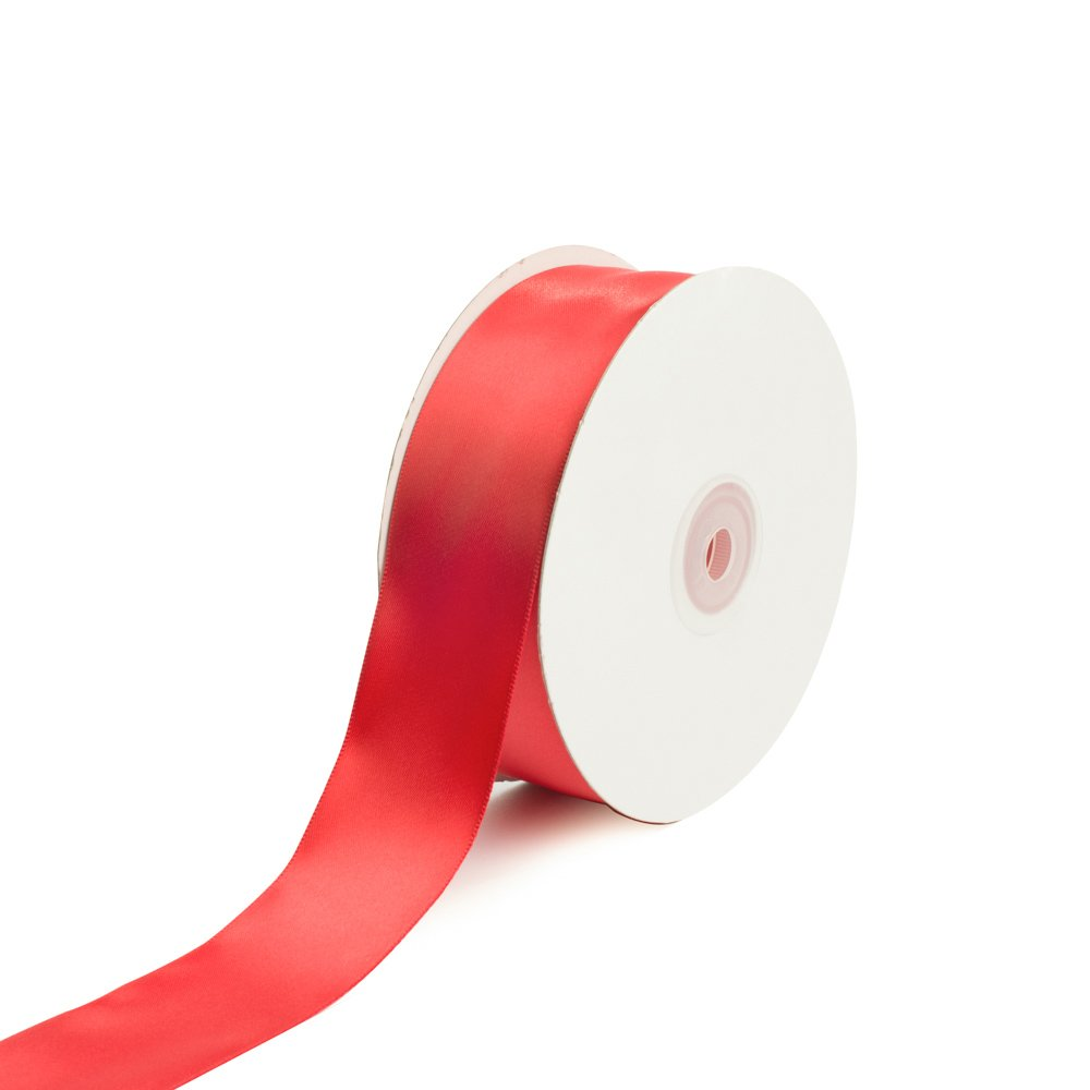 Creative Ideas Solid Satin Ribbon, 1-1/2'/50 yd, Red 1-1/2/50 yd PSF1102-250