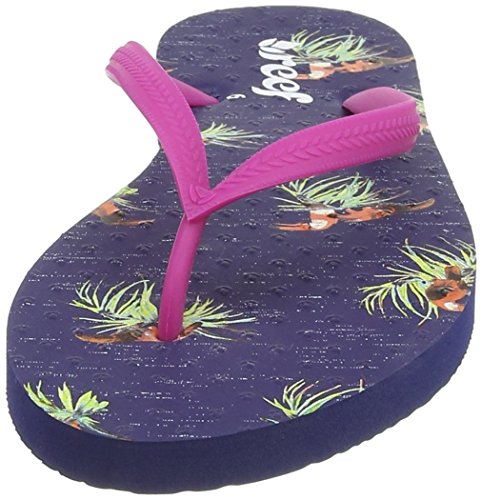 Reef Chakras Prints, Sandalias Flip-Flop para Mujer Azul (Navy Tucan)