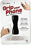 Sling Grip Slim mobile phone holder with elastic strap + Adhesive base Black