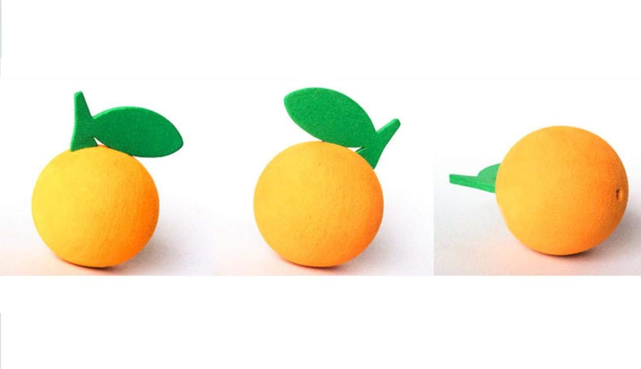 1PC Cute Orange Car Decoration EVA Car Antenna Topper Aerial Topper Antenna Ball