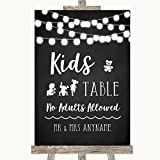 Chalk Style Black & White Lights Collection Chalk Style Black & White Lights Kids Table Wedding Sign
