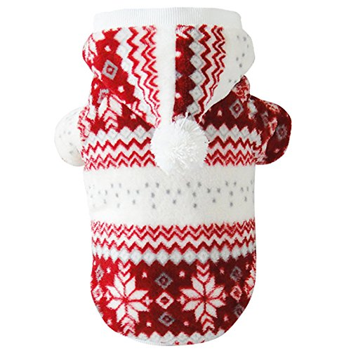 Mummumi Dog Clothes for Small Dogs, Pet Warm Winter Hoodies Cat Dog T Shirts Soft Plus Winter Clothing Pet Apparel For Small Cat Dog Chihuahua Yorkshire Dachshund Bichon Frise (8, -