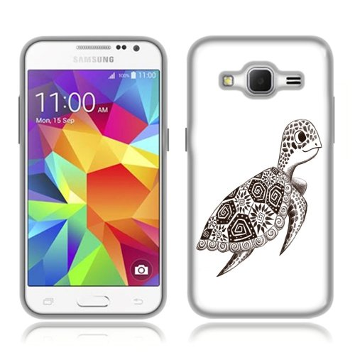 Samsung Galaxy Core Prime G360 Prevail LTE Case, Fincibo (TM) TPU Silicone Protector Cover Soft Gel Skin, Cute Turtle
