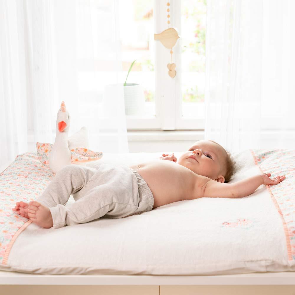 Frottee-Bezug f/ür alle Wickelunterlagen 75 x 85 cm FEHN 062540 Wickelunterlagenbezug Schwanensee f/ür Babys und Kleinkinder ab 0 Monaten