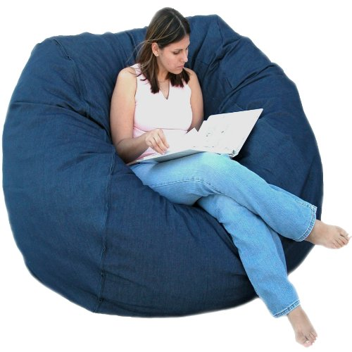 Cozy Sack 5-Feet Bean Bag Chair, Large, Denim