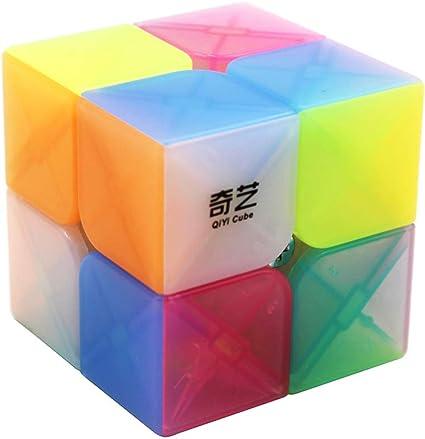 QiYi Qidi Speed Cube Smooth Magic Cube Puzzle Stickerless for Kids Adults 2x2x2