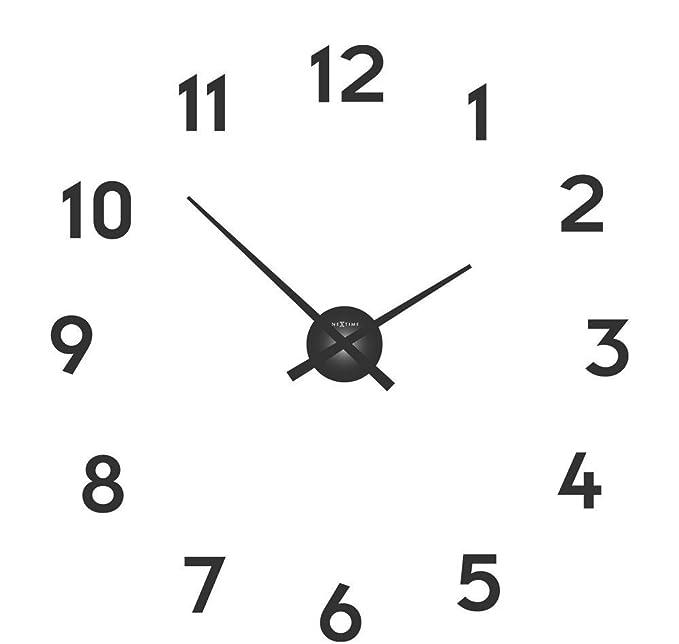 """NeXtime Reloj de pared """"SMALL HANDS"""", agujas de aluminio, números para"""