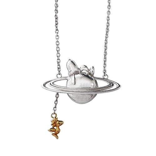 Amazon.com: Snoopy Plata Collar/Saturn snac511 por pequeño ...