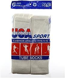 America Excell-ent Men's 6 Pack Over-the-Calf Tube Socks