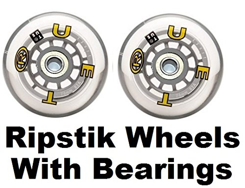 Ripstik Replacement Wheels 76mm 82A With Ripstick Bearings Installed (2 Wheels)