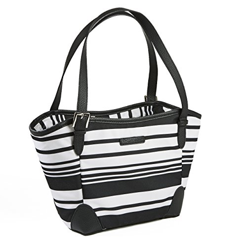 Rachael Ray Chelsea Dual Compartment Lunch Bag, Insulated Meal Carrier, Black - Ray Chelsea