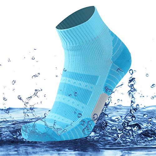 (SuMade Women's Waterproof Dry Hiking Trekking Skiing Socks 1 Pair (Blue, Small))