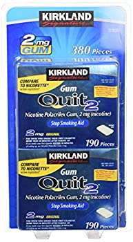 Kirkland Signature Quit Smoking Gum, 2 Mg, 380 Count 4