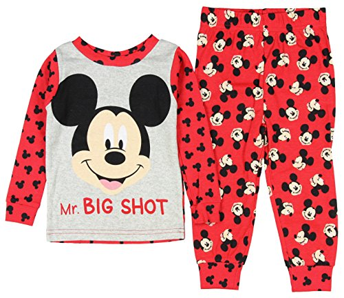 Disney Baby Boys' Mickey Mouse 2 Piece Long Sleeve Pajama Sleepwear Set (18 Months)