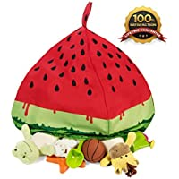 Fill It Bean Bag Cover Stuffed Animal Storage - Organize Your Kids Room - Watermelon Design